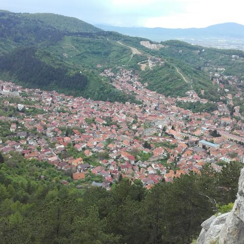 Brasov from a rock climb