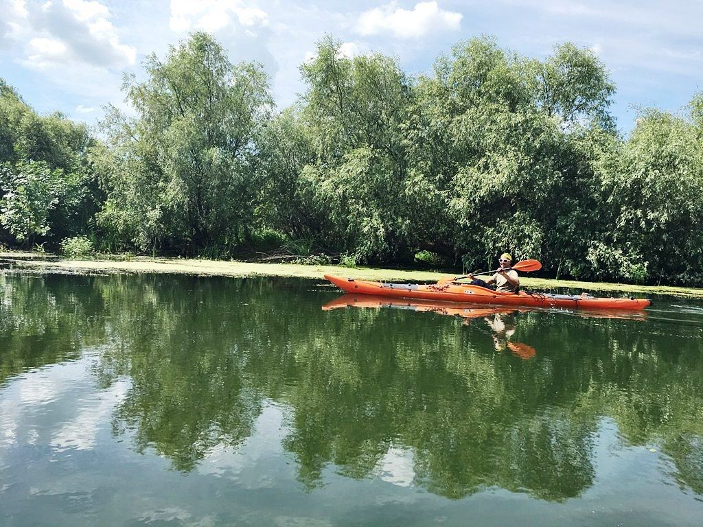 Kayak yours in the Donau Delta