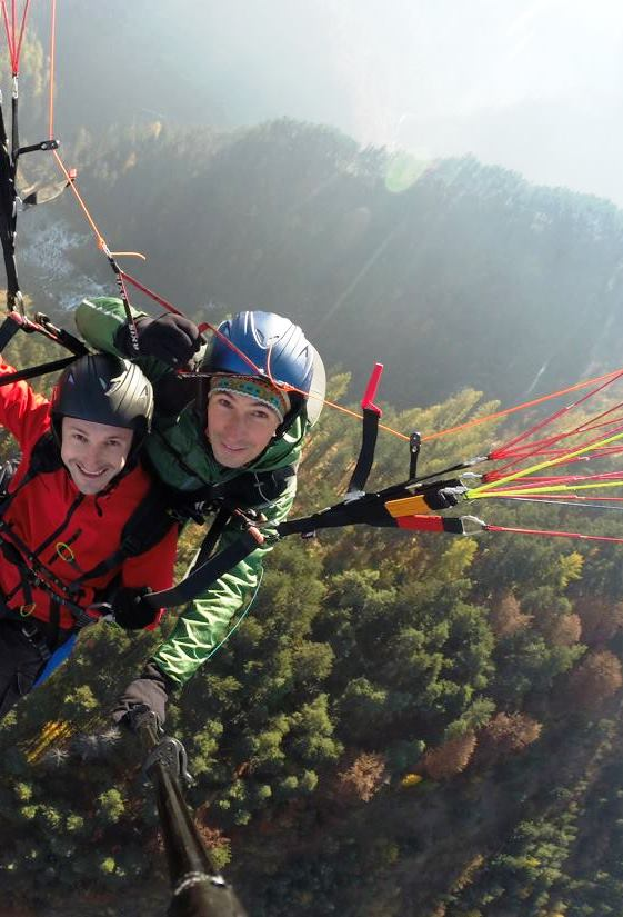 Tandem paragliding in nature Romnia Brasov
