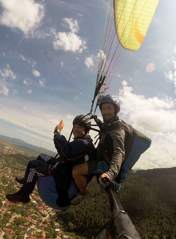 Tandem flight in Brasov Romania
