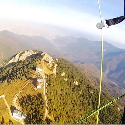 Paragliding in the Postavaru Massif