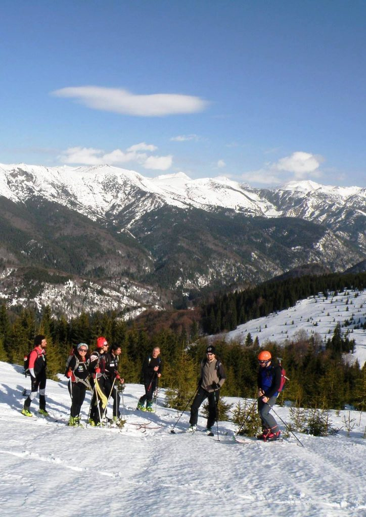 Ski touring in Romania